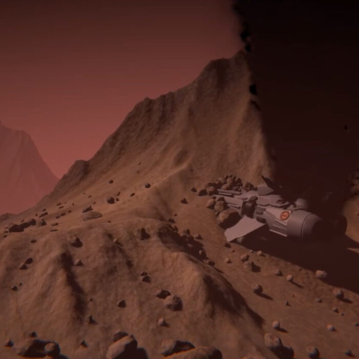 Martian Crash Site